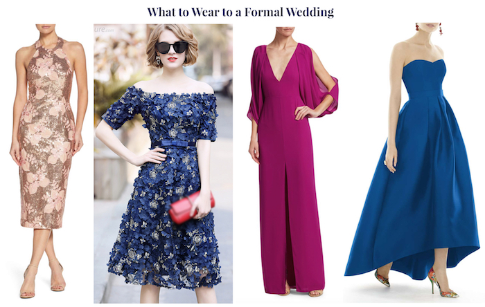 Wedding guest attire demystified! 4 wedding guest looks for a formal wedding.