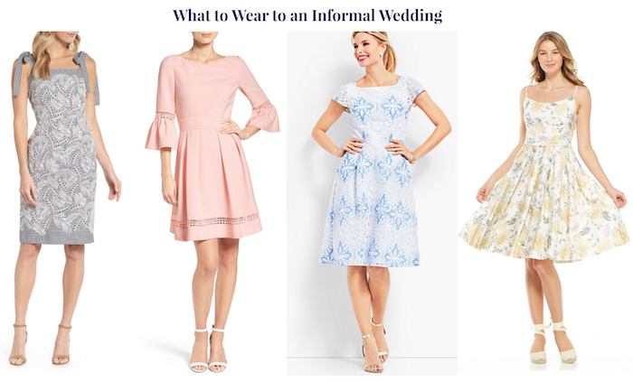 Wedding guest attire demystified! 4 wedding guest looks for an informal wedding.