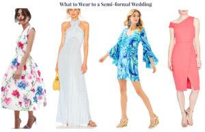 Wedding guest attire demystified! 4 wedding guest looks for a semi-formal wedding.