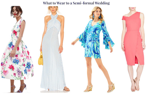 Wedding guest attire demystified! 4 wedding guest looks for a semi-formal wedding.