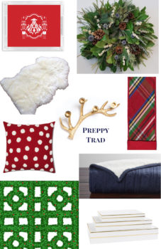 Christmas Decor Ideas for 2018: collage of preppy trad decorations