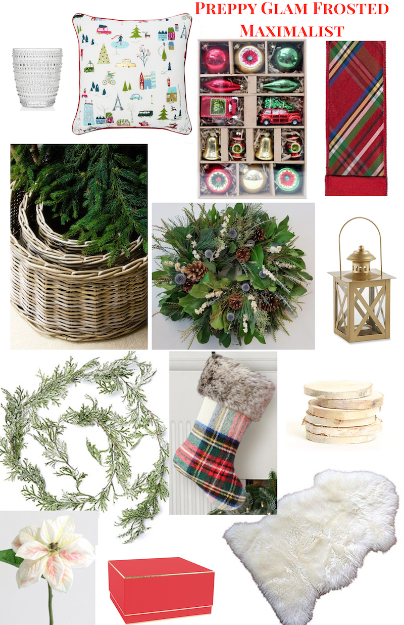 A mixup collage of elements from each of these Christmas Decor Ideas for 2018