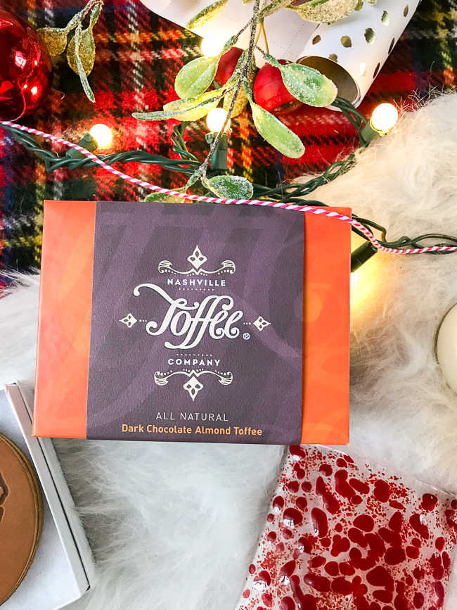 Nashville Toffee Company is a great hostess gift this holiday season