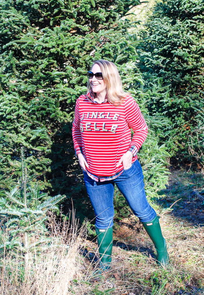 All the Christmas feels with a Carolina tree farm and the right Christmas jumper: Jingle Belle!