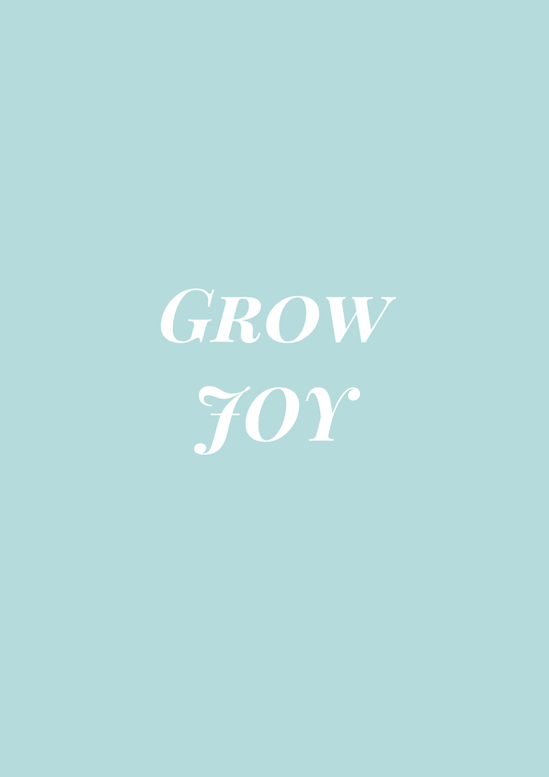 Gracious Disposition Challenge Grow Joy Quote on blue background