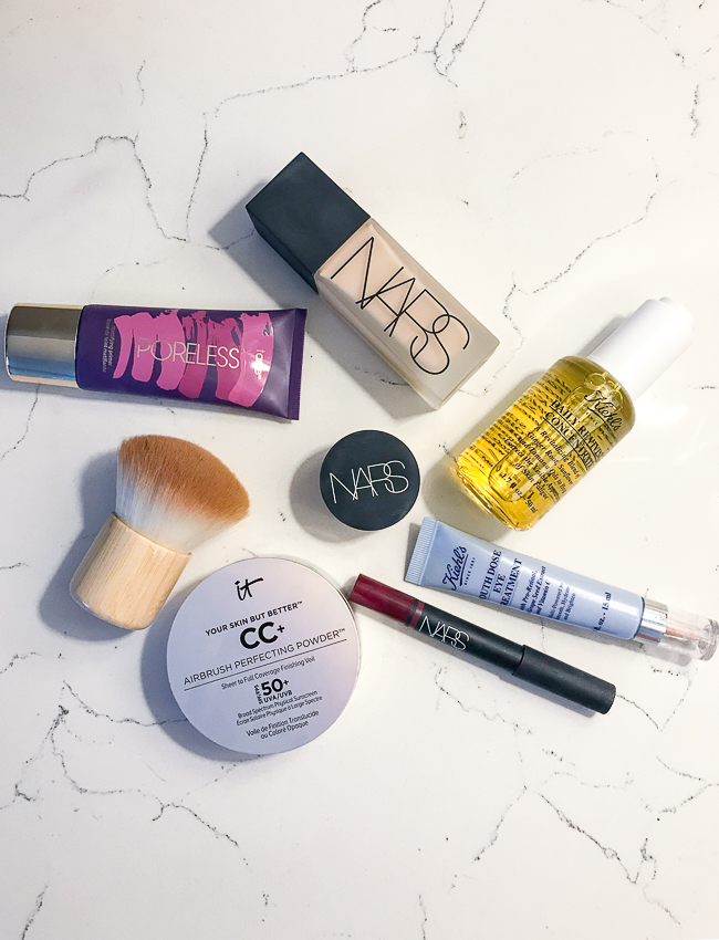 New beauty products flatlay - what's working and what's not in 2019