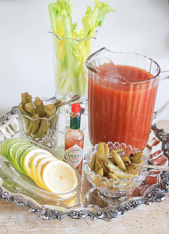 Build your own Southern Bloody Mary bar