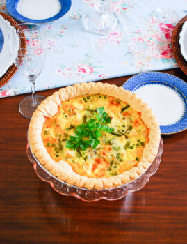 The perfect spring quiche: Herbed lemon quiche with chicken and asparagus a lovely entree for a spring meal