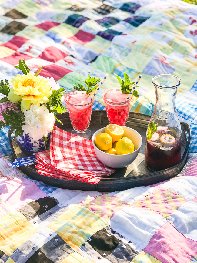 Enjoy a blueberry lemon mint fizz on a sultry summer evening