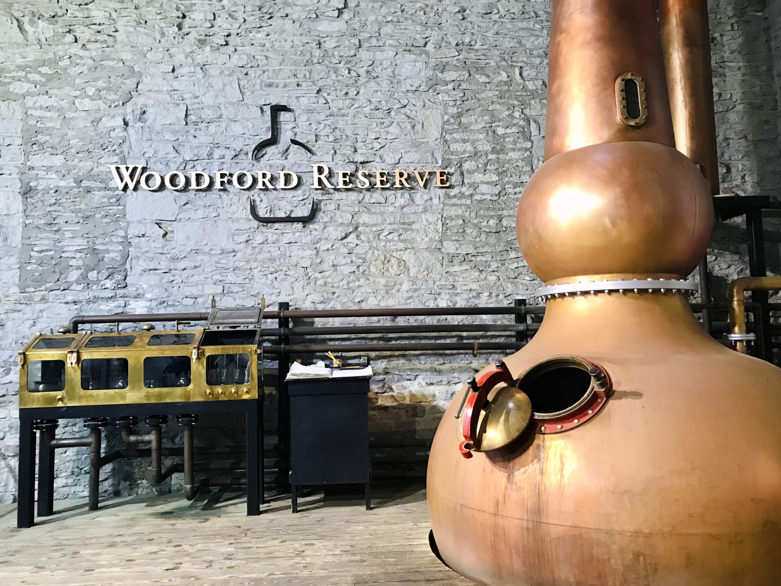 Copper still at Woodford Reserve Distillery