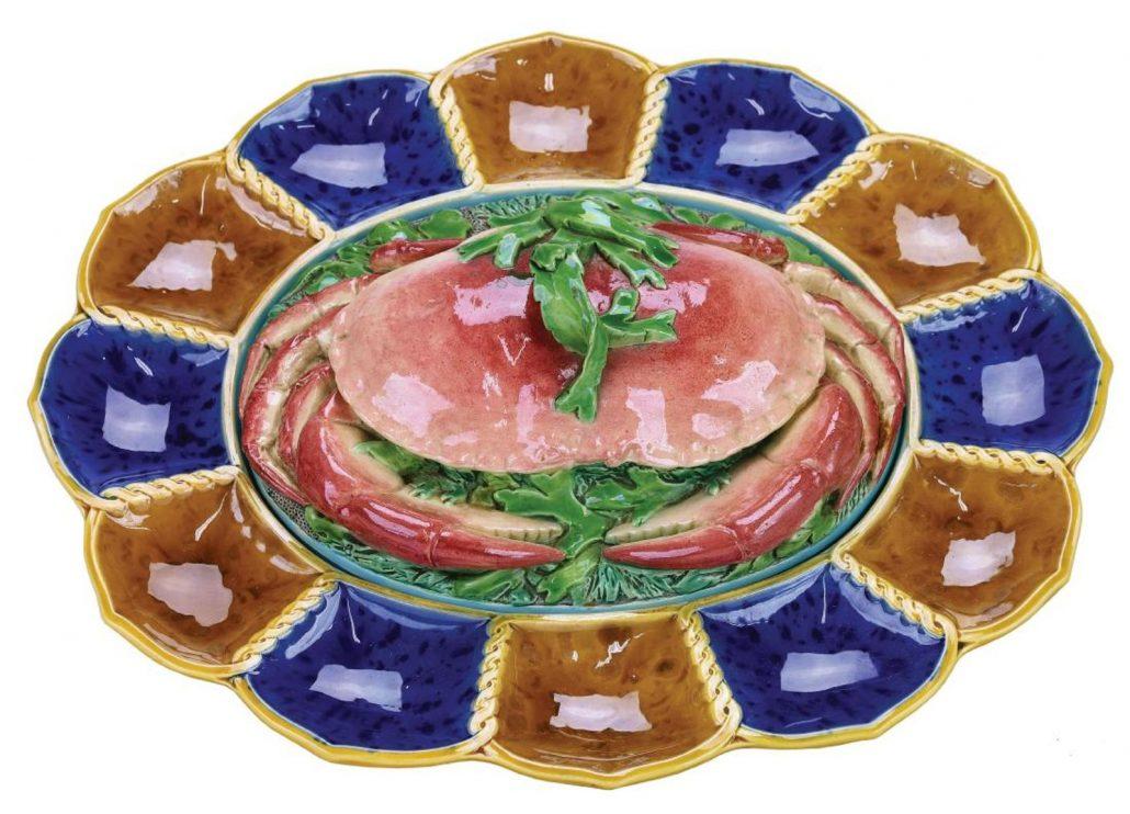 Minton crab server - Antique Majolica