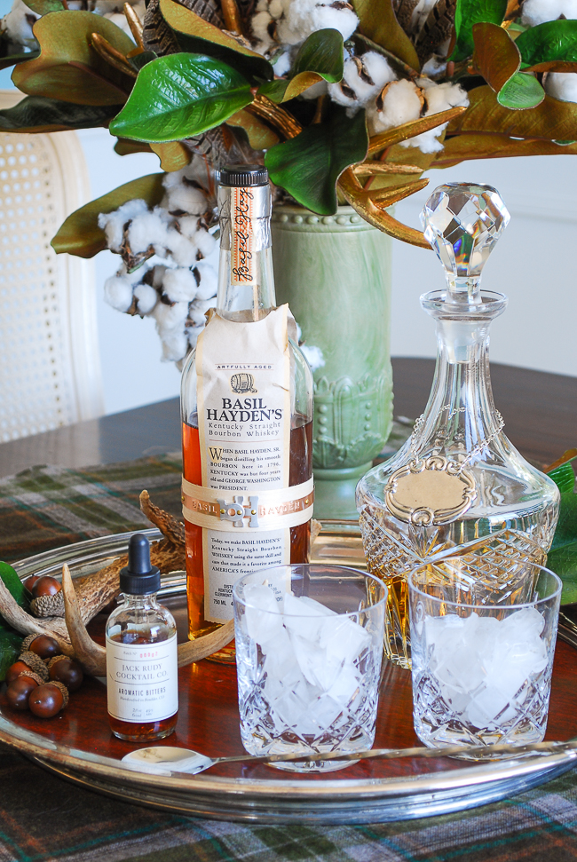 Pair Basil Hayden and Jack Rudy bitters