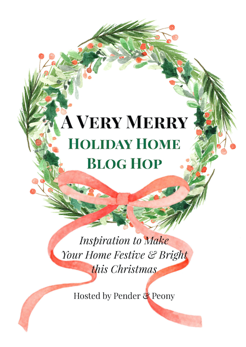 Title graphic for a very merry holiday home blog hop