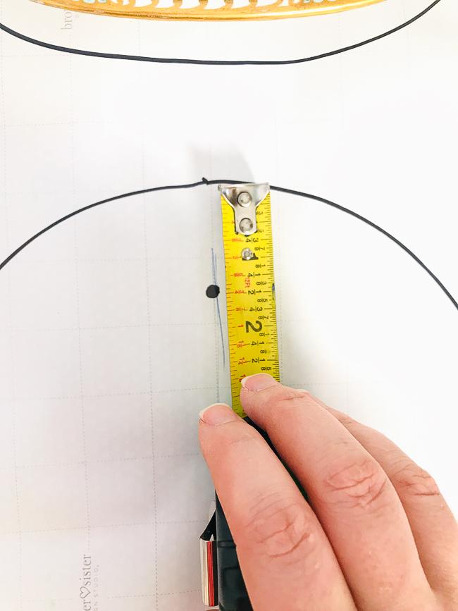 mark hanger point on template