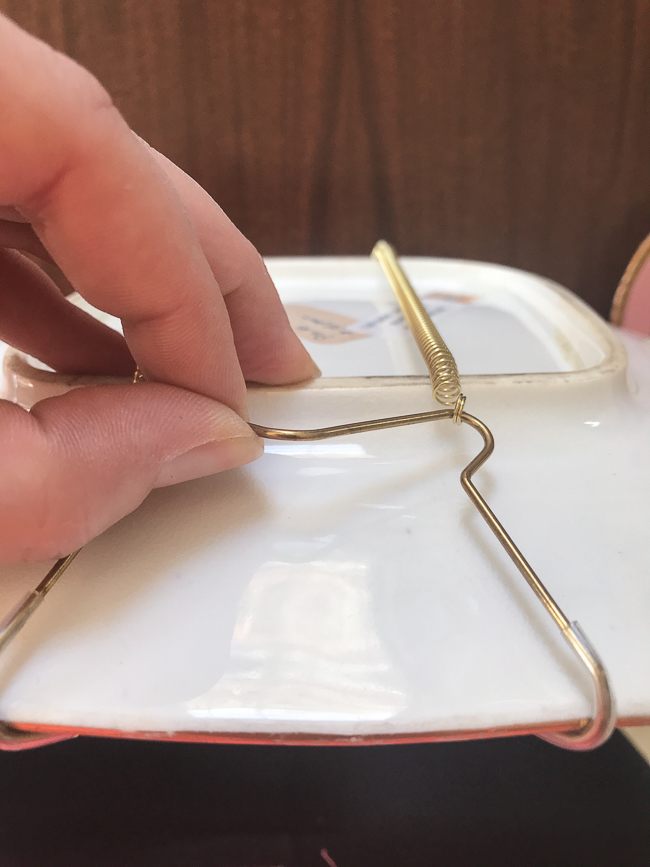 Use wire plate hangers for larger, heavier plates