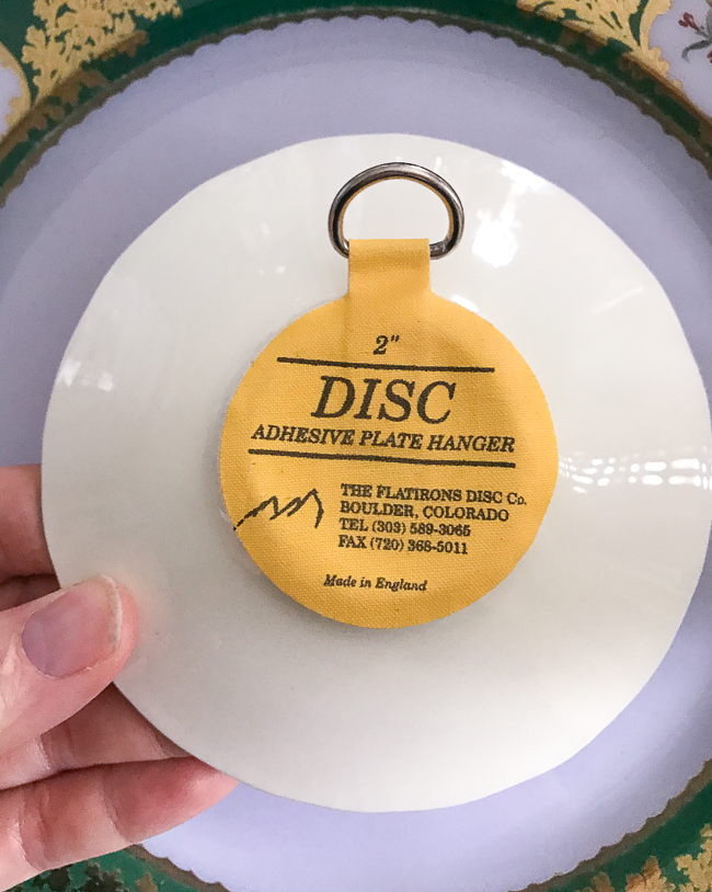 Disc plate hangers are great for small plates