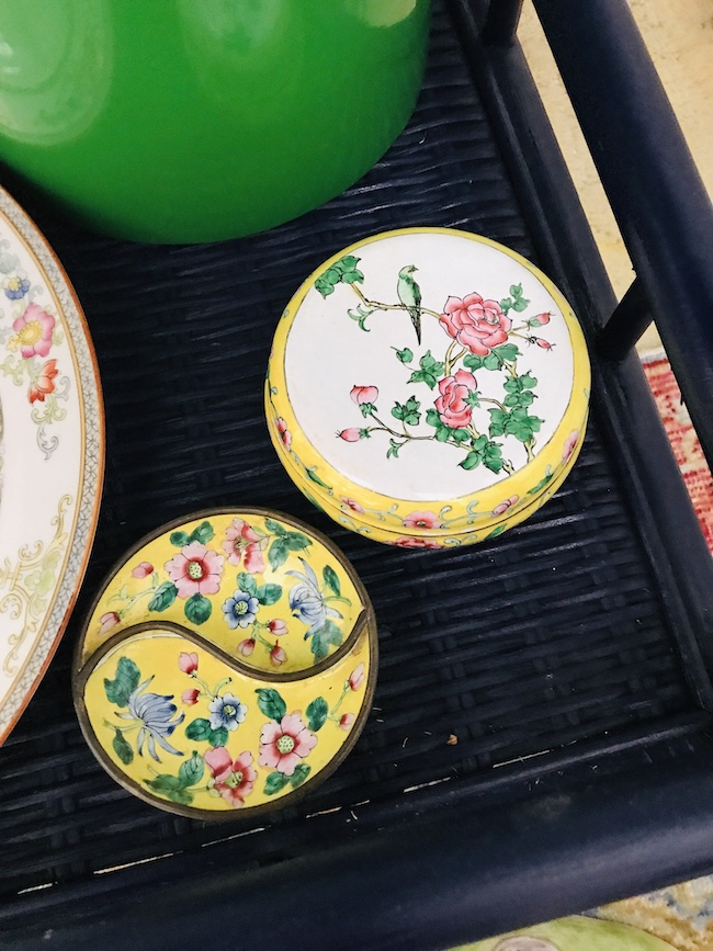 Enamelware box and dish