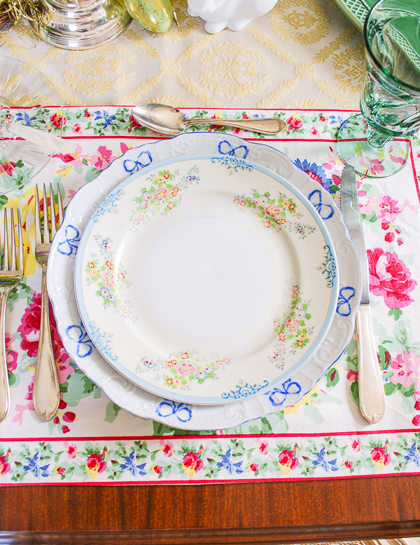 Japanese Floral Salad Plates