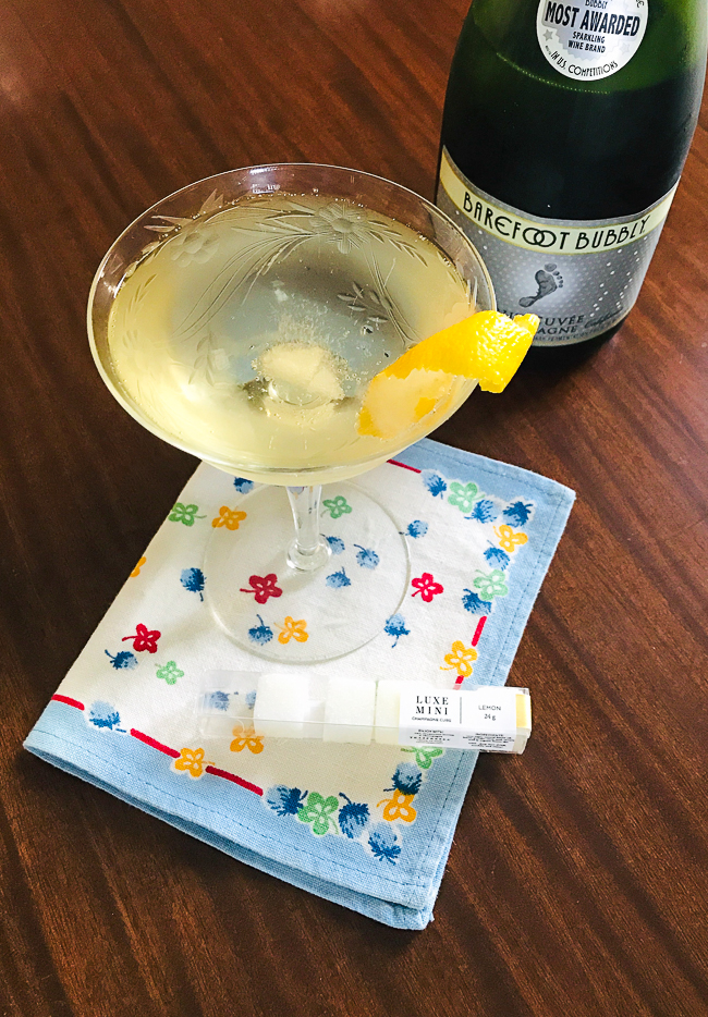 Make this easy version of a French 75 with champagne sugar cubes