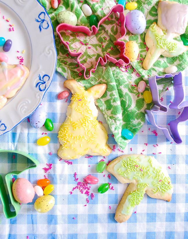 Yellow bunny sugar cookie