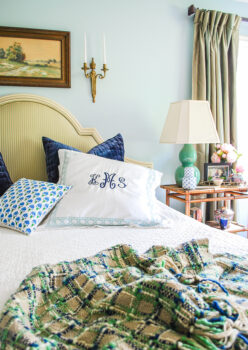 Refresh your throw pillows to update your bedroom styling