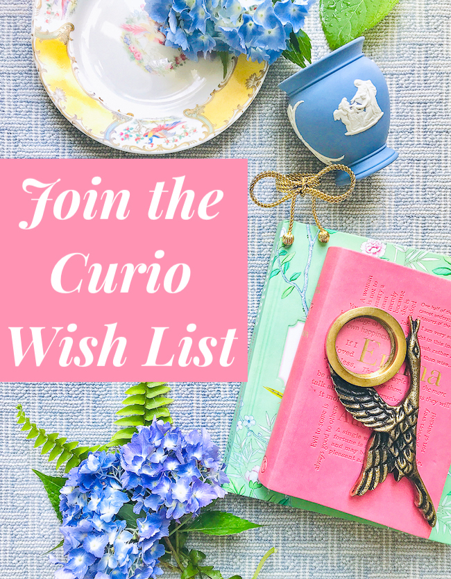 Join Pender & Peony's curio wish list for help acquiring the art, furniture, decor, antiques, and vintage goodies you've got your heart set on!