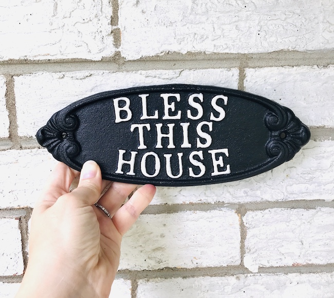 Bless This House cast iron plaque