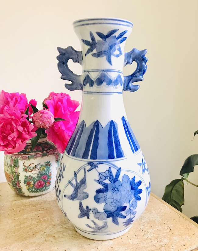 Blue and white bottle vase