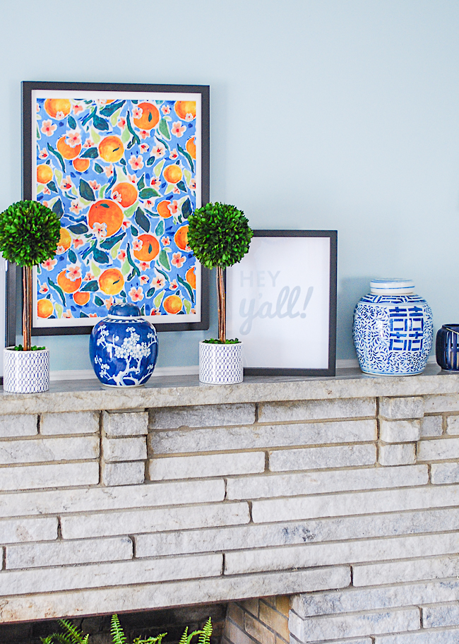 Elevated essentials for mantel decor