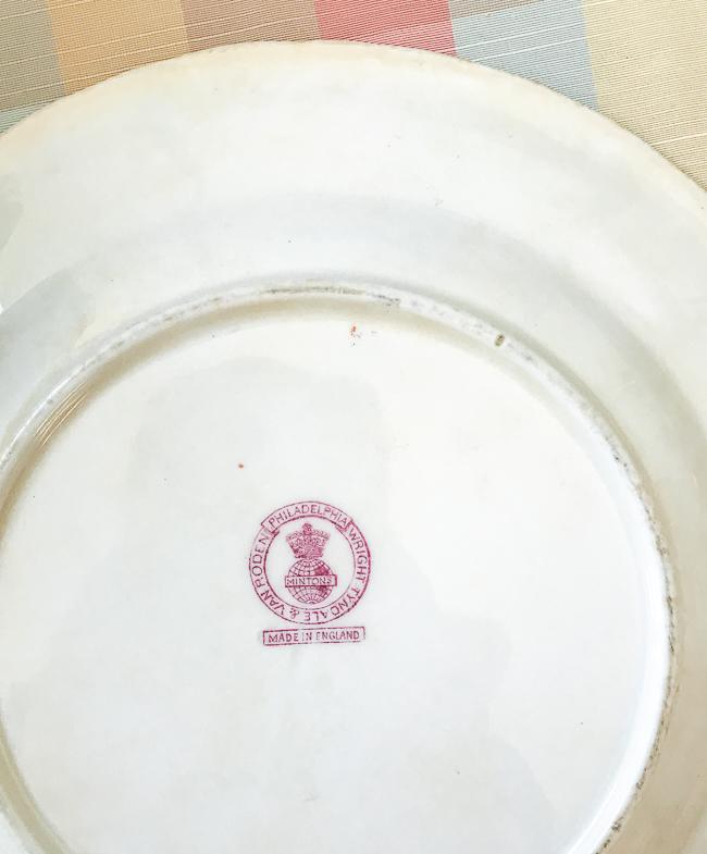 Minton's for Wright, Tyndale & Van Roden Philadelphia Rose plates