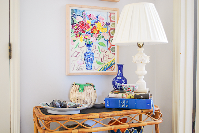 Summer decorating ideas - add colorful, bright art to walls