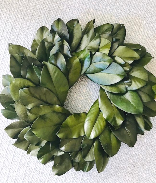 "Preserved Magnolia Wreath 16"""