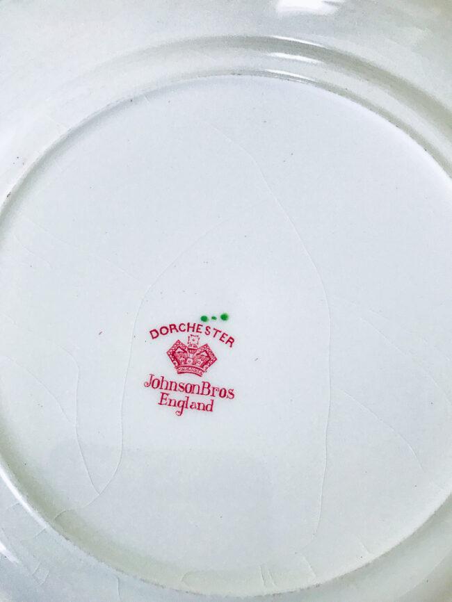 back mark on Johnson Bros plate