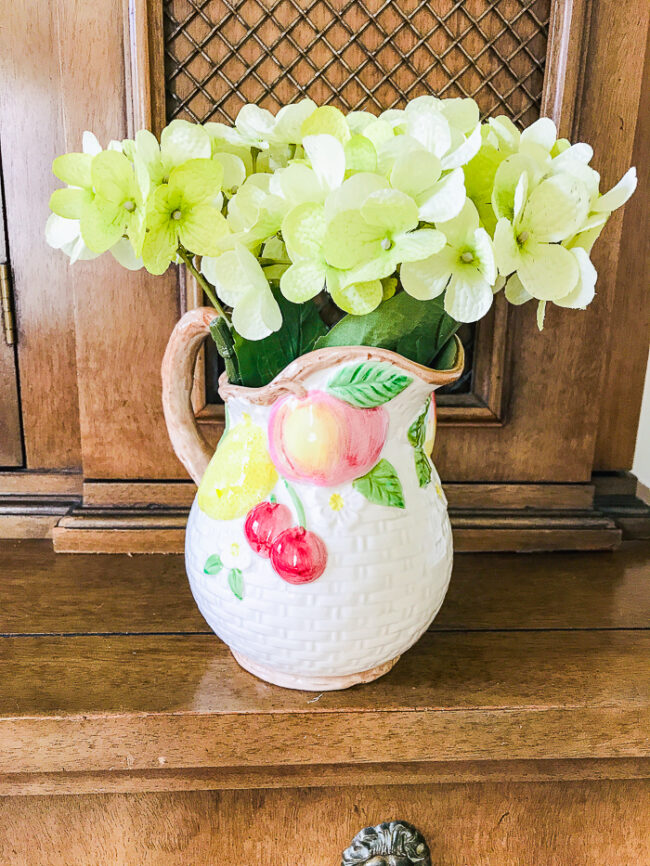 Fitz and Floyd fruit pitcher