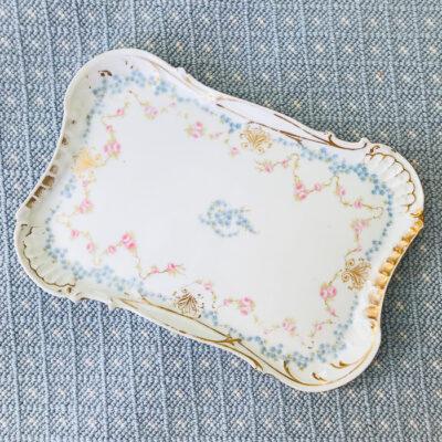 Elite Limoges floral tray