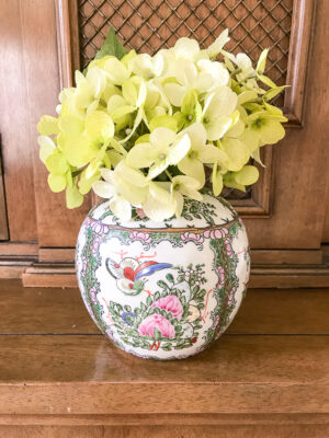 Rose canton ginger jar from Andrea by Sadek