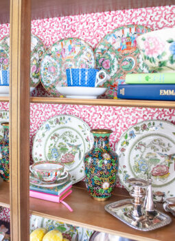 7 Tips for styling a china cabinet