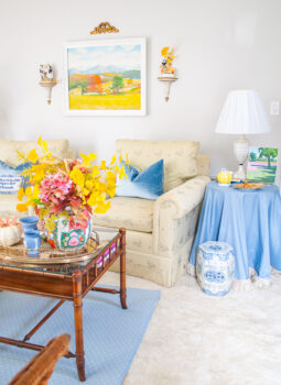 My formal living room all dressed up for the It's a Colorful Life Autumn Home Tour