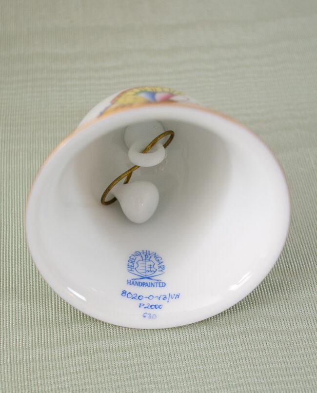Herend mark inside butterfly bell
