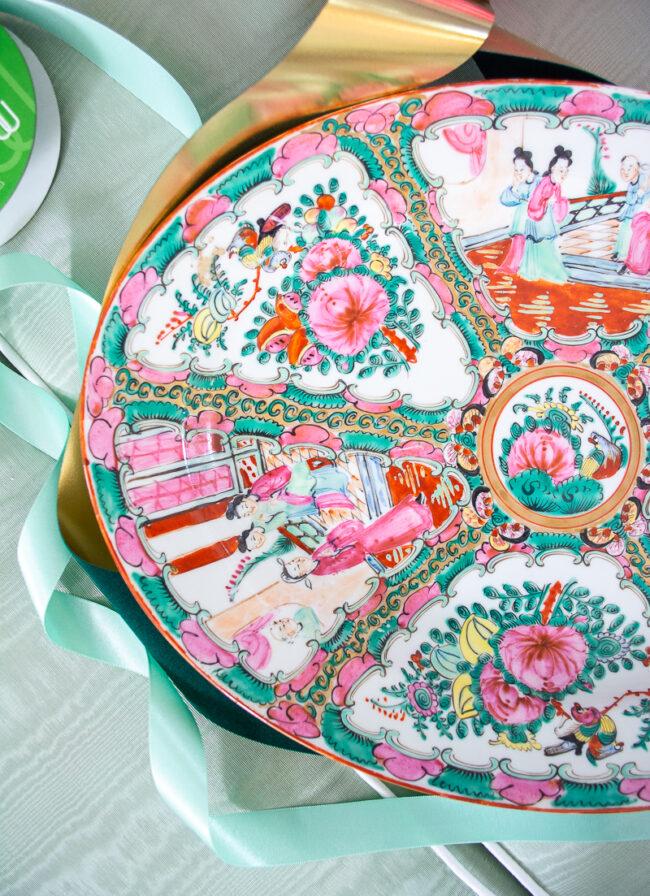 Right side Rose Medallion platter