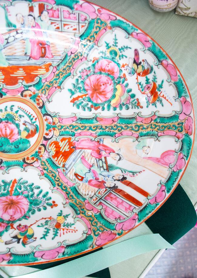 Left side Rose Medallion platter