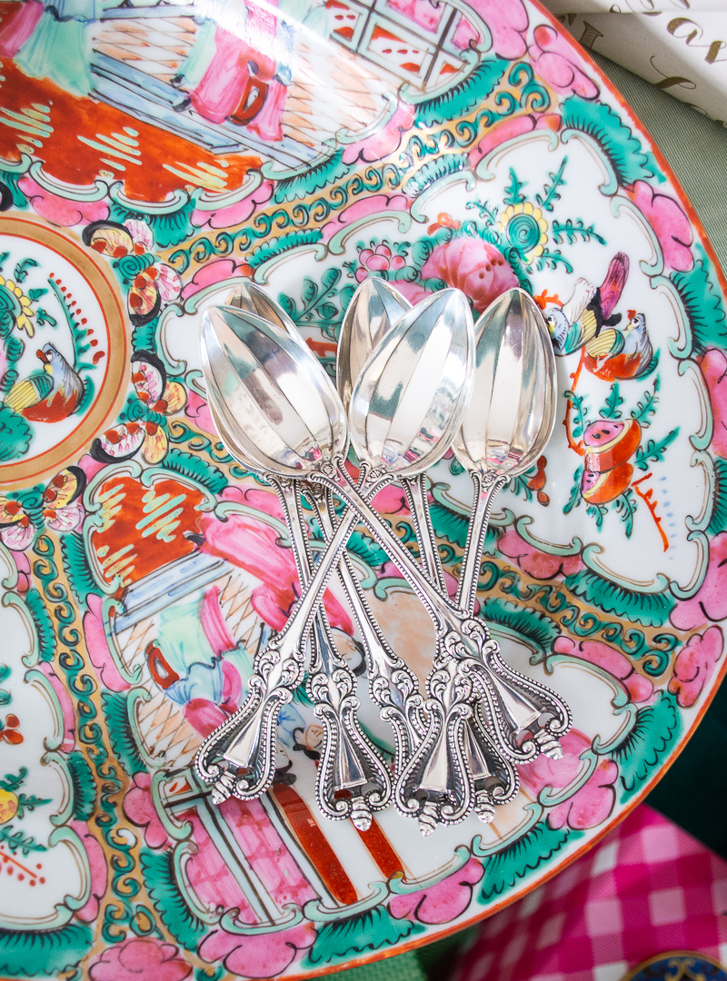 A set of sterling silver spoons makes a perfect gift for the grandmillennial who loves entertaining