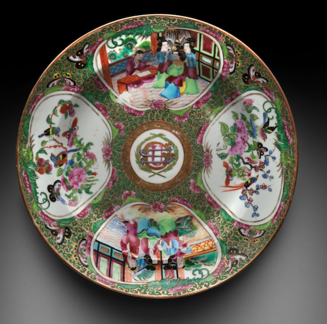 Soup dish with the monogram of Ulysses S. Grant, about 1868