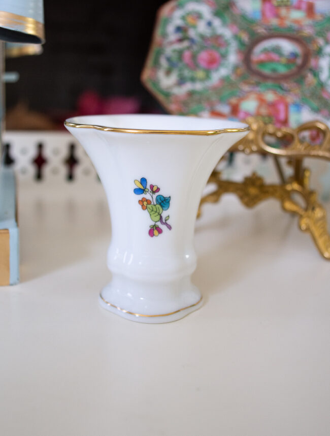 Herend guild mini vase with florals