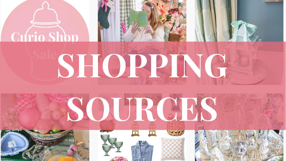 SHOPPING sources Instagram post grid