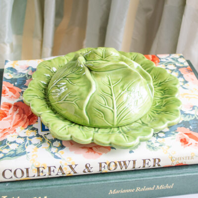 cabbage ware butter dish