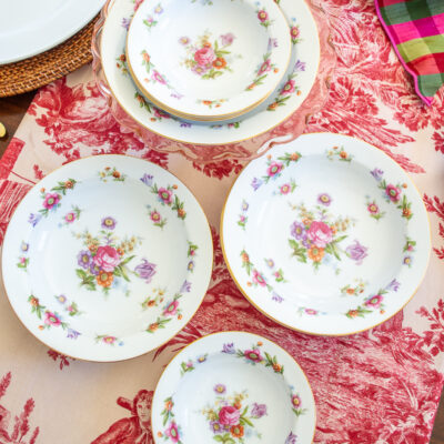 Porcelain china set Dresdenia by Sango