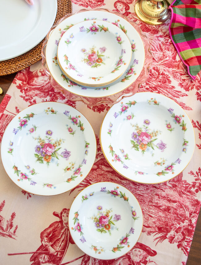 Porcelain china set Dresdenia by Sango
