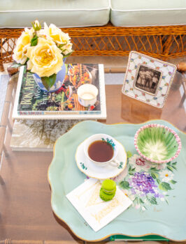 A grandmillennial coffee table style with 5 traditional decor staples