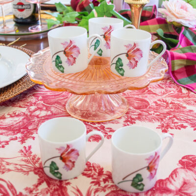 Chastagner Limoges demitasse cups with tulip design